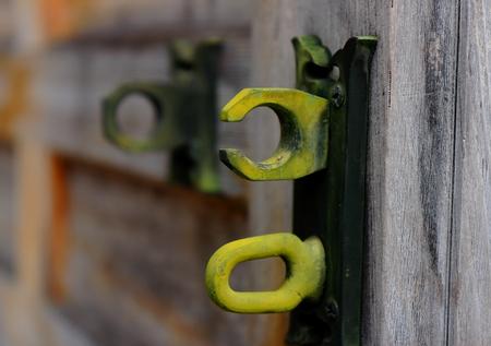 clench: Ironwork on door
