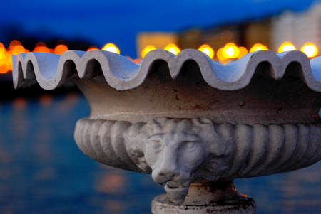 san sebastian: City lights - San Sebastian Stock Photo