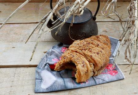 Bitten croissant photo