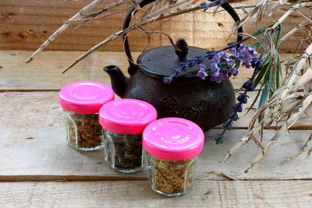 Teapot and tea photo
