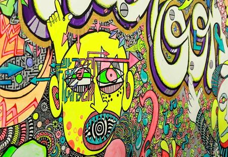 Yellow graffiti Editorial
