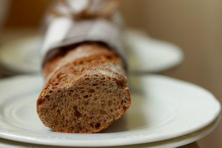 faience: Integral bread Stock Photo