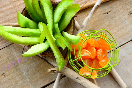 healthful: Basket with fruit