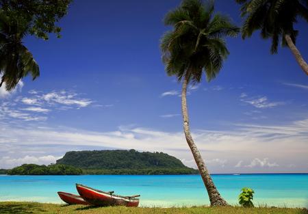 vanuatu: Red canoes-Port Olry-Vanuatu