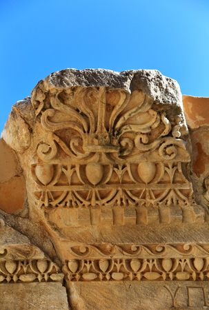 antik: DetailMyra ruinsTurkey Editorial