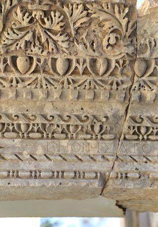 antik: Ruin detail-Myra-Turkey Stock Photo
