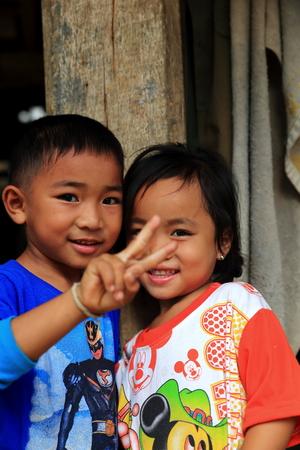 LUANG NAMTHA,LAOS-OCTOBER 06, 2015:  Locals  on October 06, Luang Namtha, Laos. Editorial