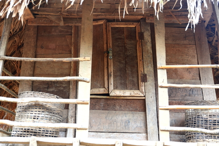 rustic cabin-laos Stock Photo