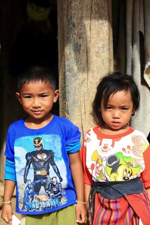 LUANG NAMTHA,LAOS-OCTOBER 06, 2015:  Locals at Luang Namtha, Laos. Editorial