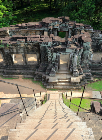 staircase-angkor wat-cambodia Stock Photo