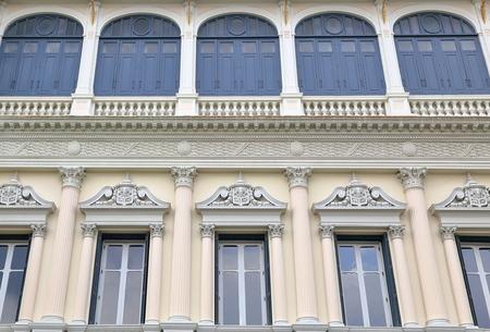 royal: royal palace-facade-bangkok Stock Photo