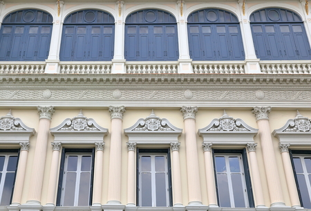 royal palace-facade-bangkok Stock Photo