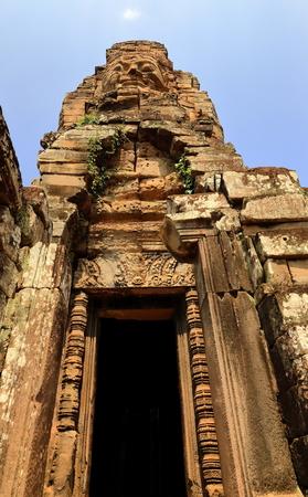 entrance-bayon-angkor Stock Photo