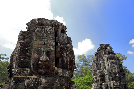 angkor-bayon-cambodia II Stock Photo