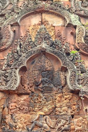 cambodia-banteay srei Stock Photo