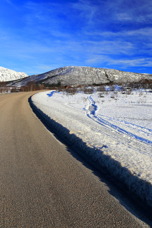the winter road in norway