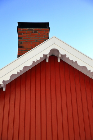 red cabin in norway Stock Photo