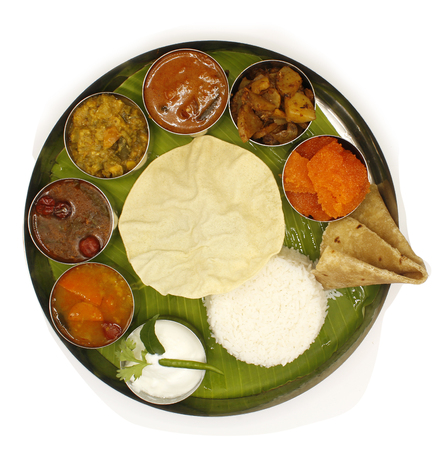 South Indian meals on a plate
