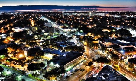 The city of Miami comes alive at night