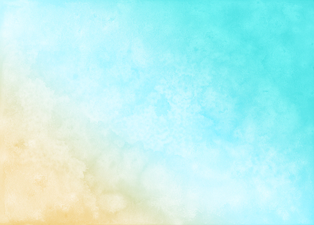 Abstract beach watercolor background.