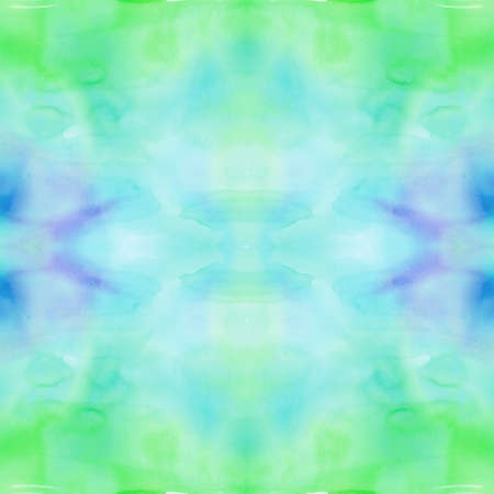 Seamless pattern with Boho tie-dye watercolor paper textured background. Hippie style. Textile effect. Shibori.