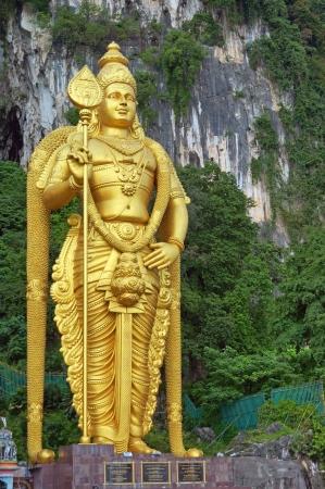 limestone caves: Lord Murugan Statue at Batu Caves             Stock Photo