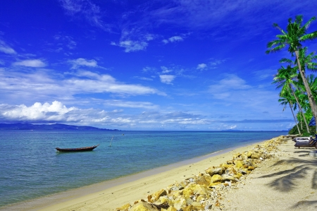パンガン島で Ao Bang ターゲット ビーチ