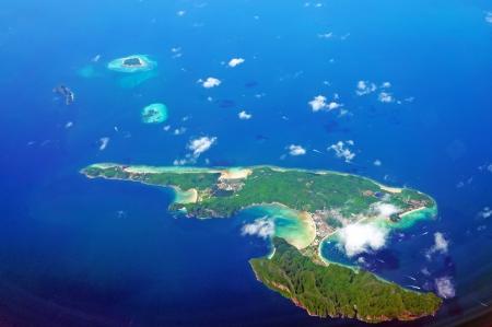 koh: Aerial view of Koh Phi Phi        Stock Photo