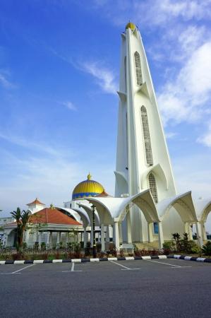 マラッカの海峡モスクのミナレット