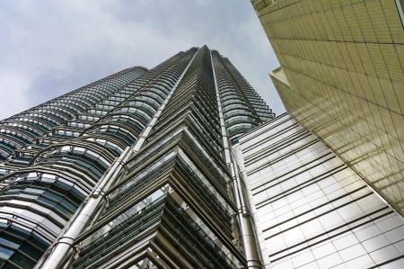 view from below: Below Petronas Twin Towers