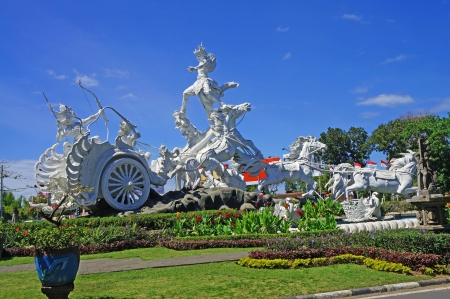 mahabharata: Satria Gatotkaca Statue in Kuta, Bali          Stock Photo