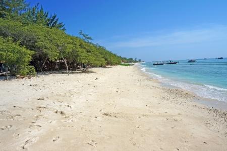 ギリ ・ トラワンガンのビーチ砂プリスティンと荒野
