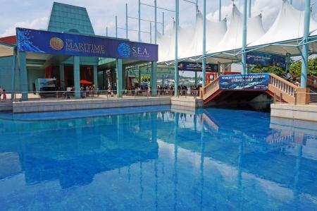 S E セントーサ島の水族館