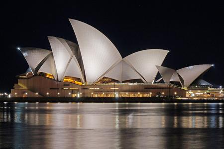opera: Sydney Opera House at night