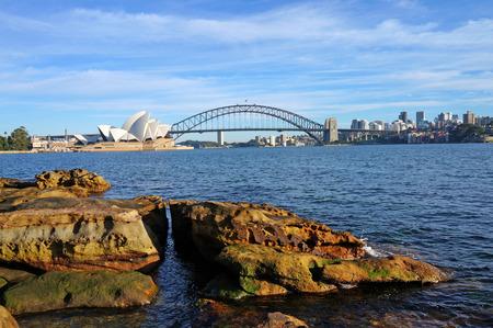 シドニー ・ オペラハウスとハーバー ブリッジ 報道画像