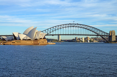 sydney harbour: The Sydney Harbour Bridge and Opera House