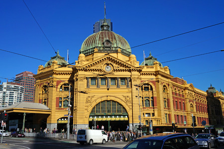 Flinders Street Station  Melbourne, Australia  Editorial