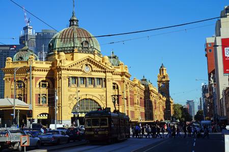 Flinders Street Station  Melbourne, Australia  Editorial