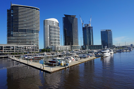 docklands: Docklands Harbour in Melbourne Editorial