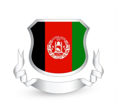 Afghanistan Flag In Shield