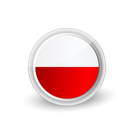 Circle with red and white color icon
