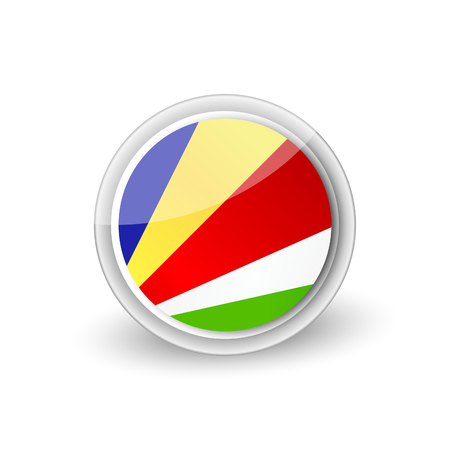 Rounded icon of Seychelles 向量圖像
