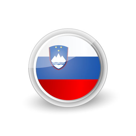 Rounded icon of Slovenia Standard-Bild - 97788148