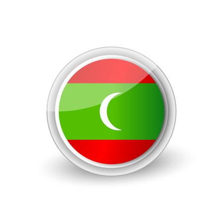Rounded icon of The Republic of Maldives Illustration