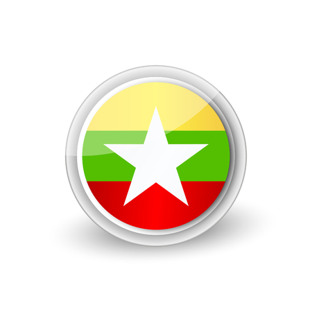 Round icon of Myanmar or Burma