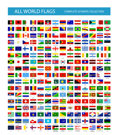 All Vector World Country Flags. All flags are organized by layers with each flag on a single layer properly named. Ilustração