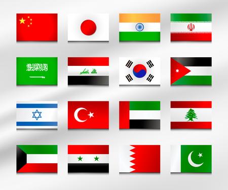Flag set of Asia 1