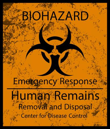 Signe de restes humains Biohazard et texture grunge