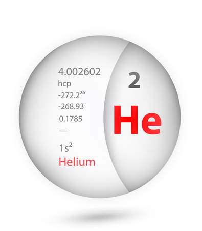 Helium icon in badge style. Periodic table element Helium icon. One of Chemical signs collection icon can be used for UI/UX on white background. Vektoros illusztráció