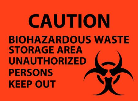 Biohazardous Waste Storage Area Poster Stock Vector - 114430772